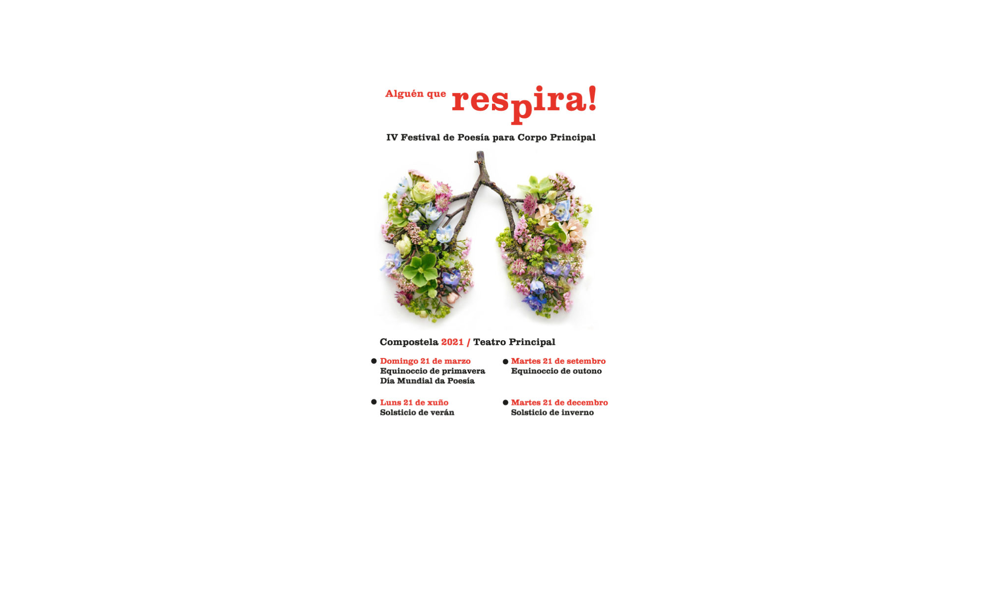 ALGUÉN QUE RESPIRA! Festival de Poesía para Corpo Principal